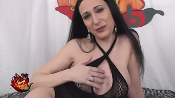 Italian Milf Luna Dark in fishnet stockings fucks with Capitano Eric