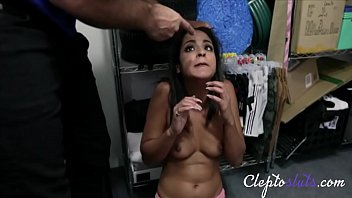 Petite Latina Teen Shoplifter Force Fucked By White Security Officer- Vienna Black
