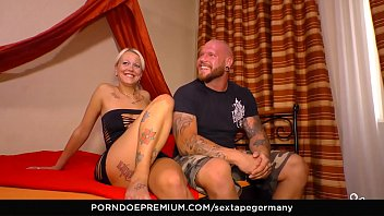 SEXTAPE GERMANY - Tattooed amateur German couple bangs in amateur sex tape