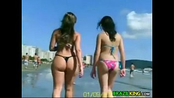 Amayuer bikini beach Brazilian chicks outside at the beach