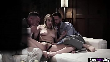 Gorgeous Cadence Lux fucked by two giant cocks