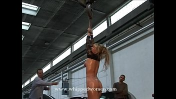 Bull-whipping for leggy blonde - she stole money, but the truth will be whipped out of her