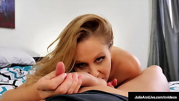 Busty Hot Step Mom Julia Ann Rides Her Step Sons Hard Throbbing Dick!