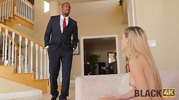 BLACK4K. Unexpected interracial sex makes young babe very happy