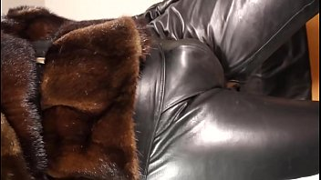 Soft leathers on the cock and mink jacket