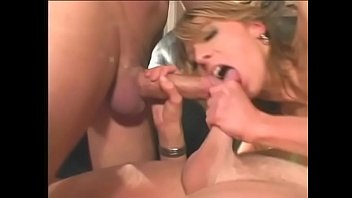 European floozie Janet Alfano enjoys double anal penetration during hardcore gangbang action with three well-hung dudes