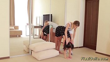 Cute Real Flexi Twins Doll Gets Stretched