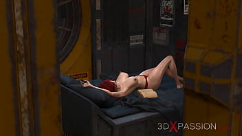3Dxpassion.com. Sexy Schoolgirl Slave Gets Fucked Hard In Her Ass By Sci-Fi Dickgirl In The Lab