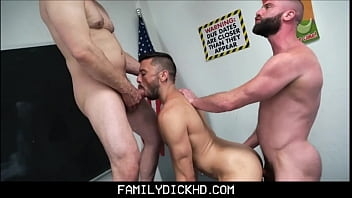 Free gay bear cock Bear step dad and jock step son threesome with teacher at school