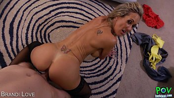Hot Brandi Love  gives titjob in POV n POV