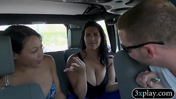 Two sexy women show off their big boobs