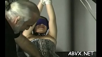 Dilettante bondage xxx pussy play with coarse toys