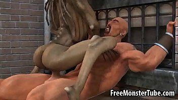 3D cartoon alien babe riding a stud's cock outdoors 3分钟