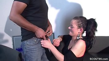 German Teen Bitch Fuck with Two older Man in Real Casting