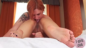 Saucy shemales Cute lesbo trans couple get saucy