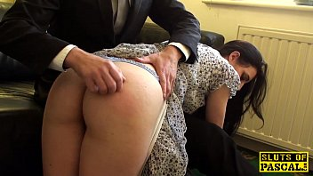 Pus spank Spanked british sub riding maledoms cock