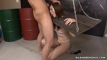 Submissive Asian woman gets humiliated and mouth fucked by deviants