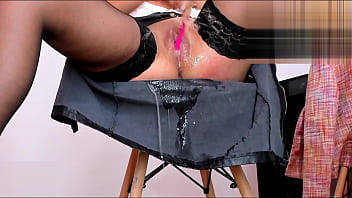 Masturbating And Squirting On My Skirt In The Office