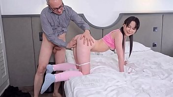 Old Goes Young - Angry man punishes the cutie for the mess she makes