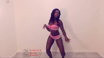 Black Beauty Queen Booty Dancing In Hot Pink Lingerie. Too Hot For Your Eyes