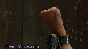 Gagged bound Asian babe tormented