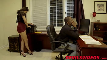 Seductive gal services big black cock like a pro
