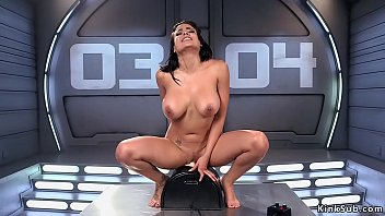 Huge tits raven haired beauty Luna Star with stunning body starts with Hitachi vibrator then continuwes with fucking machine and ends on Sybian solo