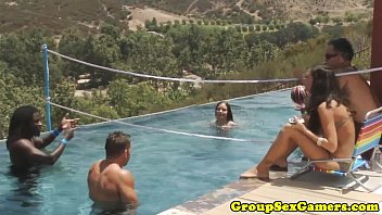 Group outdoors sex - Real poolparty teens interviewed after orgy