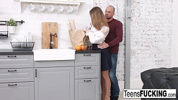 Blonde teen Jenny thanks him for his help with her pussy