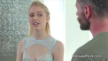 Cock Stroking And Sucking Massage Performed By Hot Blonde Teen