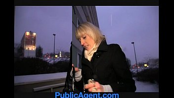 PublicAgent Blonde Laura's ass gets covered in my cum