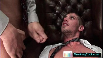 Hot stud getting his rectum stretched
