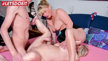LETSDOEIT - Chubby German Wife Brings Best Friend In Bed For Hot Threesome