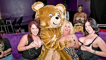 Party hardcore swinging Dancing bear - starting the party right with big dicks swinging in bitches faces