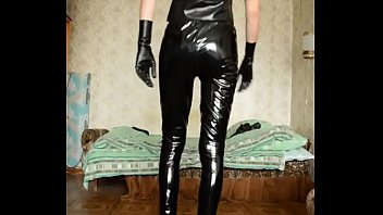Guy in latex top and different pants