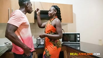 Real Black Wife Nailed Hard In The Kitchen