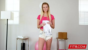 FIT18 - Riley Star - 45kg - Casting Tiny Shy Blonde With A Little Bush