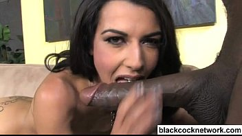Lou Charmelle interracial blowjob