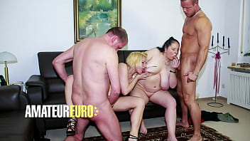AMATEUR EURO - Oda Amelie & Hanne - Hot Swinger Party With Two Sexy GILFs