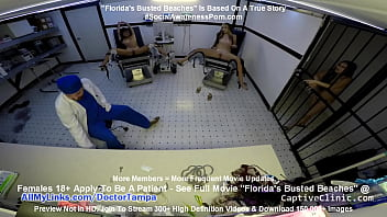 """""""Floridas Busted Beaches"""" Asia Perez Little Mina & Ami Rogue Arrested & Get Strip Search & Gyno Exam By Doctor Tampa On Way To Florida Beach @CaptiveClinic.com"""