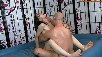 Sex massage and fuck Sensual oil body massage with fucking