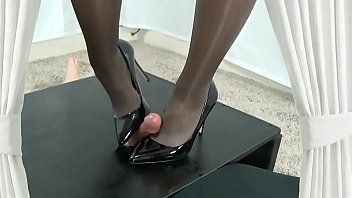 Shoejob with my Gorgeous Black Heels