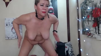 Hard spanking of big tits & wet pussy! Mature Slut Knows How To Entertain A Private Show Client!