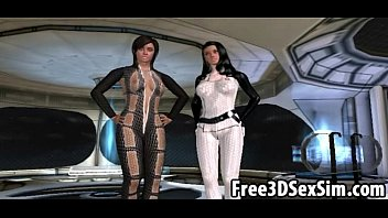 Two sexy 3D cartoon babes getting fucked on a spaceship