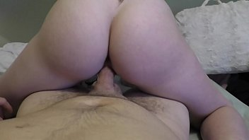 Fat Ass White Girl Rides Hard in Reverse Cowgirl POV