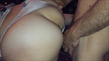 T&A 266 - White Girl, Satin Dress and Panties