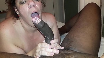 Bbw EricaRj gives sloppy throat on bbc