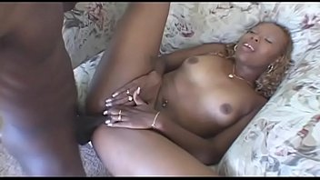 Superb ebony blonde whore Sensious gets her wet tight shaved pussy drilled by client'_s dick