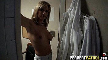 MILF sucks my cock and let me fuck after she got off work.1