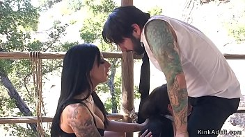 Submissive husband tirns table in threesome